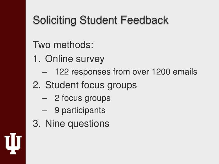 Soliciting Student Feedback