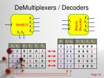 demultiplexers decoders