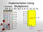 implementation using multiplexers3