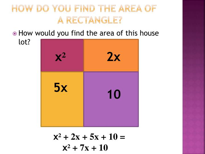 How do you find the area of a rectangle