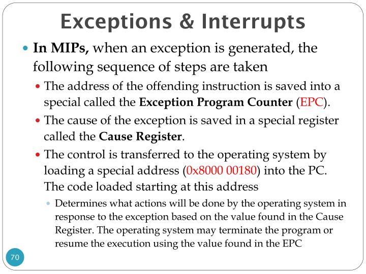 Exceptions & Interrupts