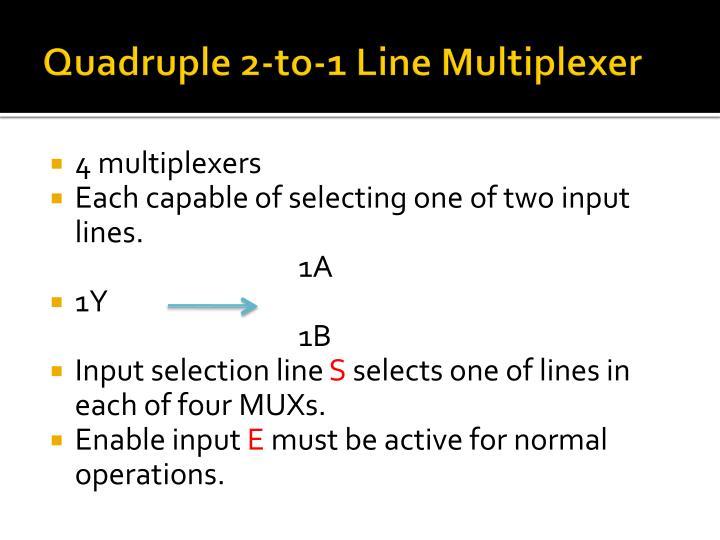Quadruple 2-to-1 Line Multiplexer