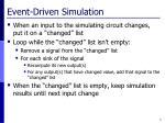 event driven simulation