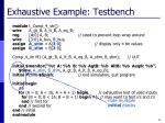 exhaustive example testbench