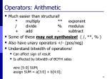 operators arithmetic