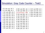 simulation gray code counter test2