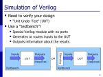 simulation of verilog