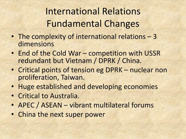 International relations fundamental changes
