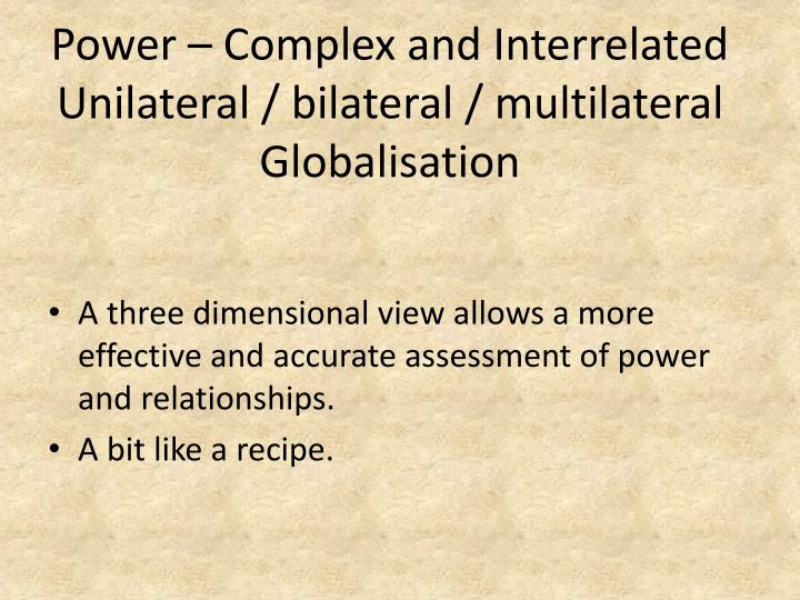 Power – Complex and Interrelated