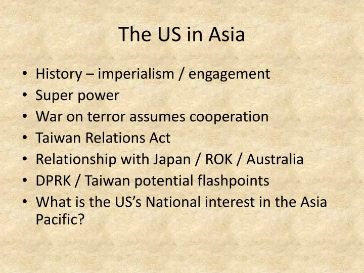 The US in Asia