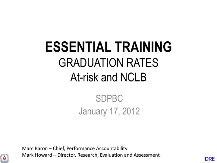 essential training graduation rates at risk and nclb n.