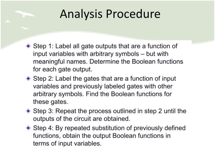 Analysis Procedure