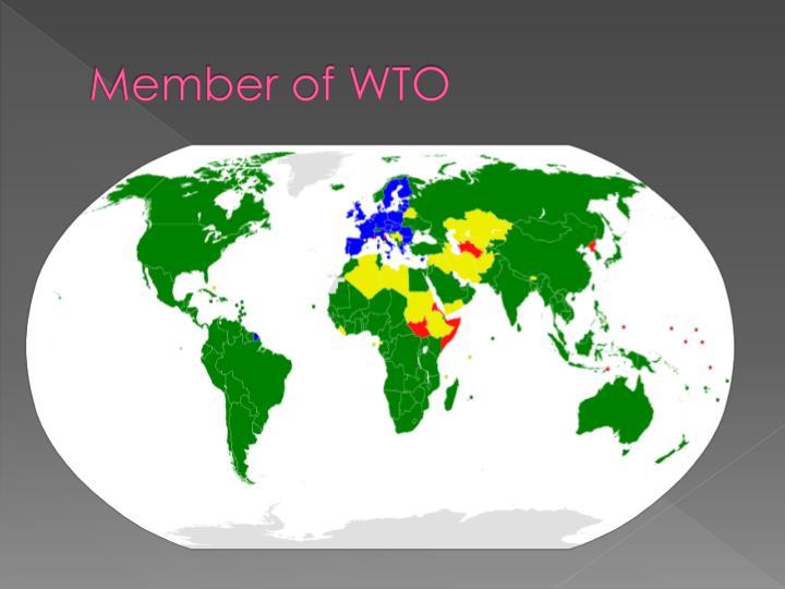 Member of WTO