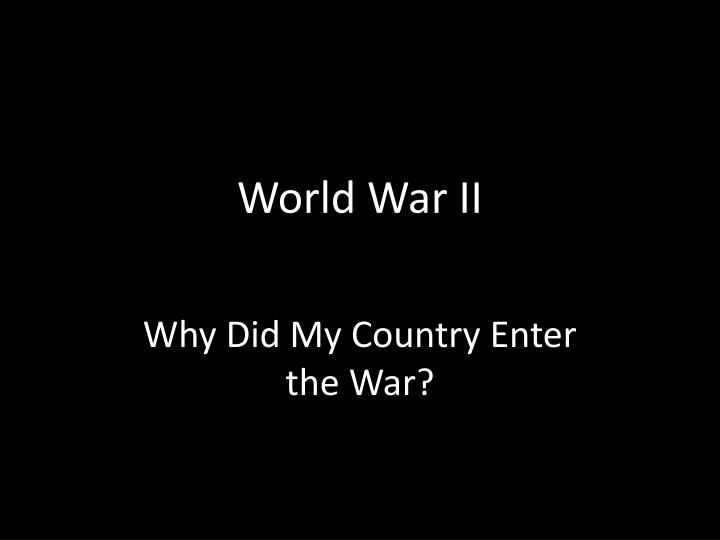 world war ii n.