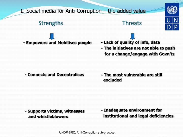 1. Social media for Anti-Corruption – the