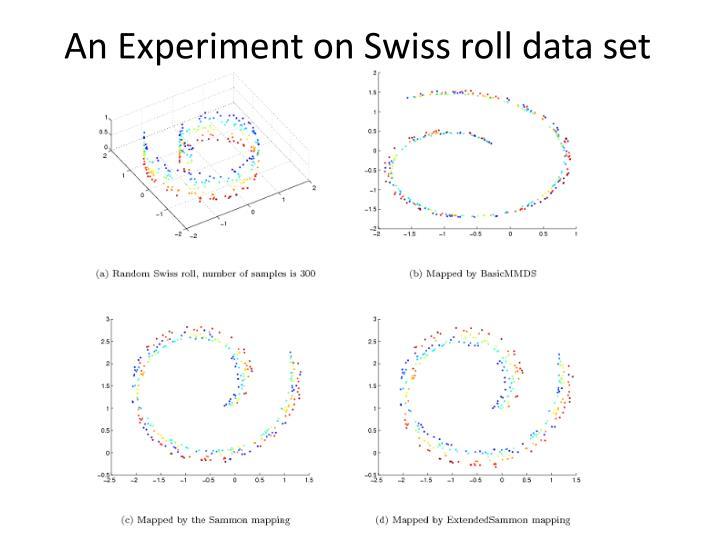 An Experiment on Swiss roll data set