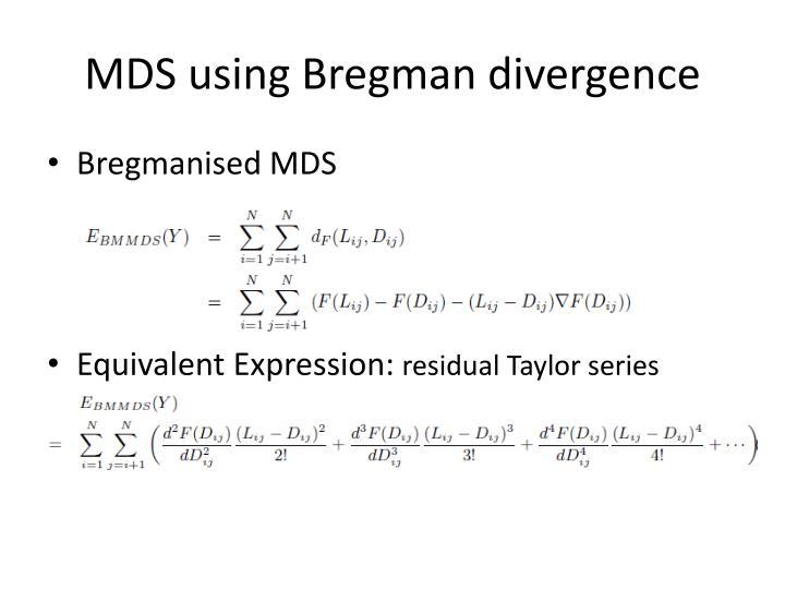 MDS using