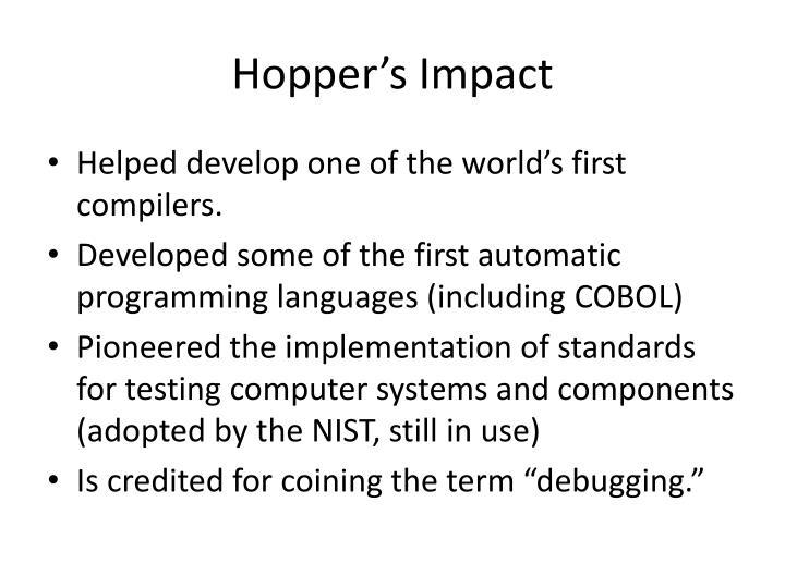 Hopper's Impact