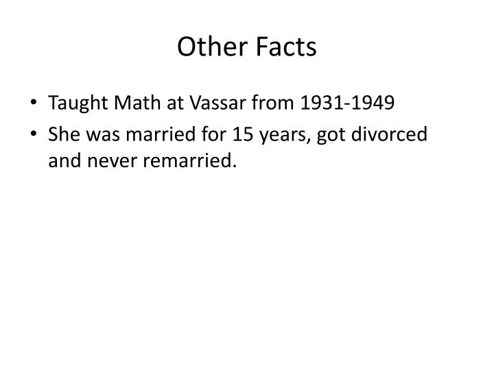 Other Facts