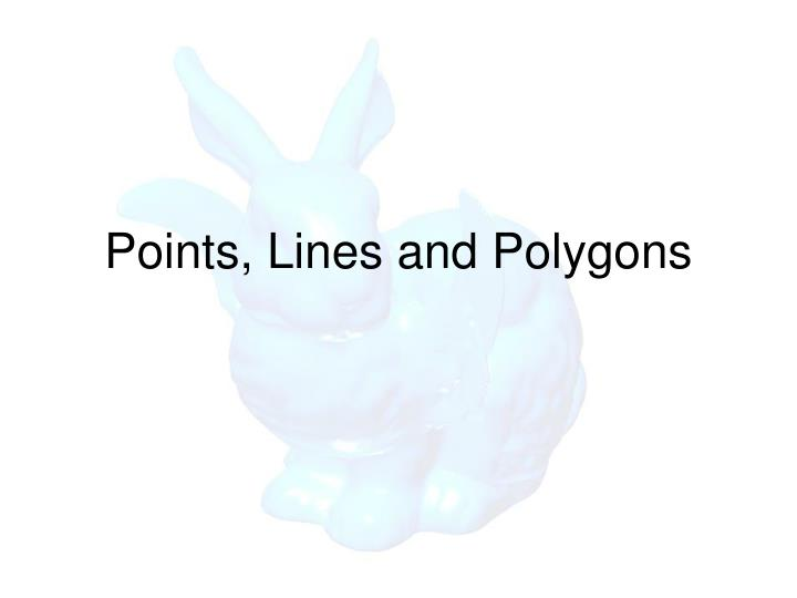 Points, Lines and Polygons