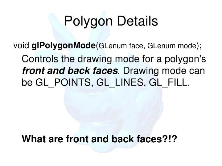 Polygon Details