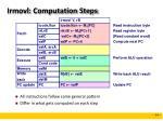 irmovl computation steps