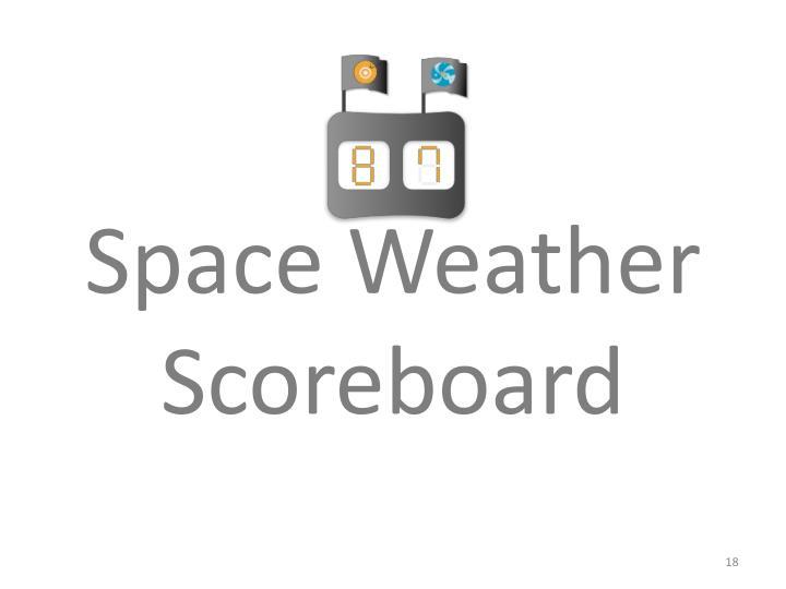Space Weather Scoreboard