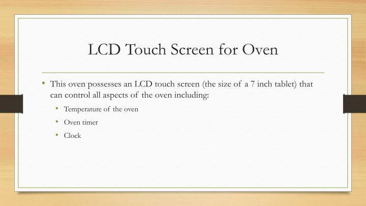 LCD Touch Screen for Oven