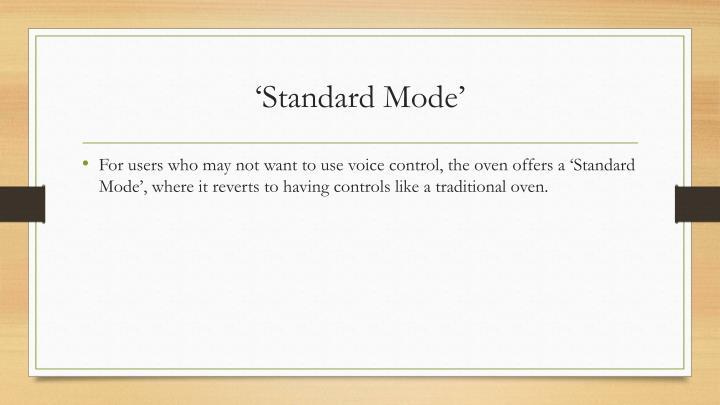 'Standard Mode'