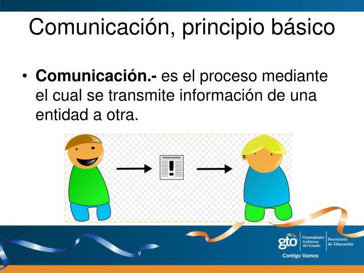 Comunicación, principio básico