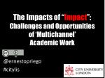 the impacts of impact challenges and o pportunities of multichannel academic w ork