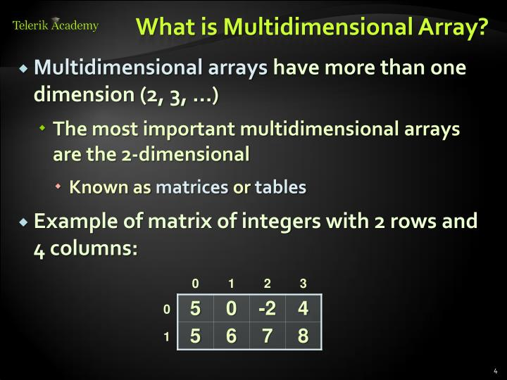 What is Multidimensional Array?