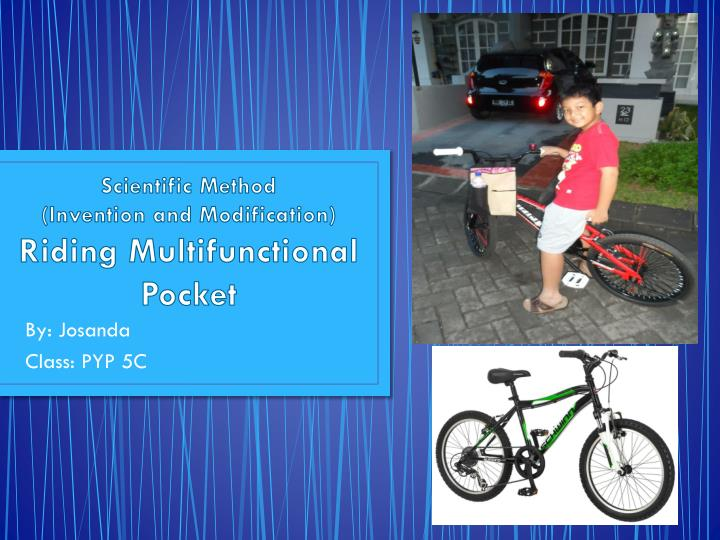 scientific method invention and modification riding multifunctional pocket n.