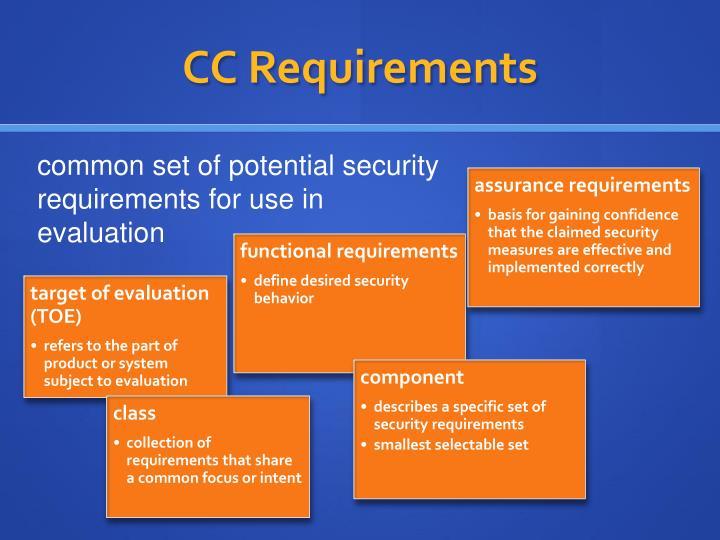 CC Requirements