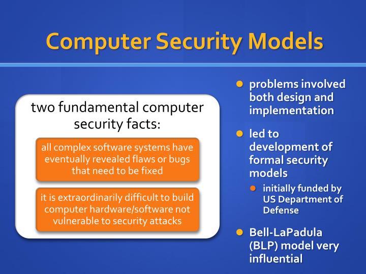 Computer security models