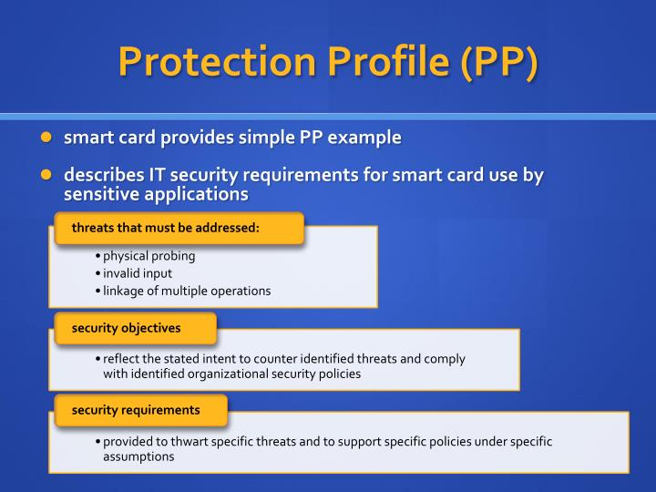 Protection Profile (PP)