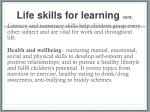 life skills for learning cont