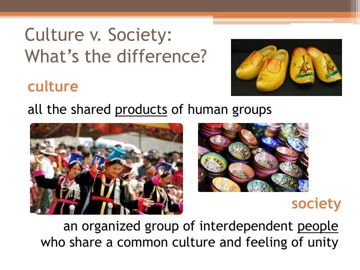 Culture v society what s the difference