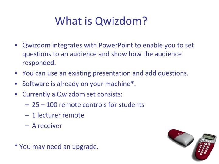 What is Qwizdom?