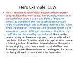 hero example c e w