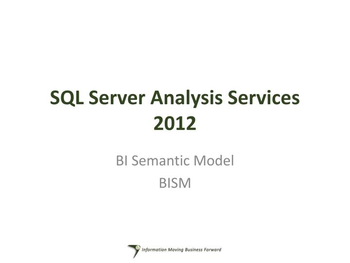 Sql server analysis services 2012