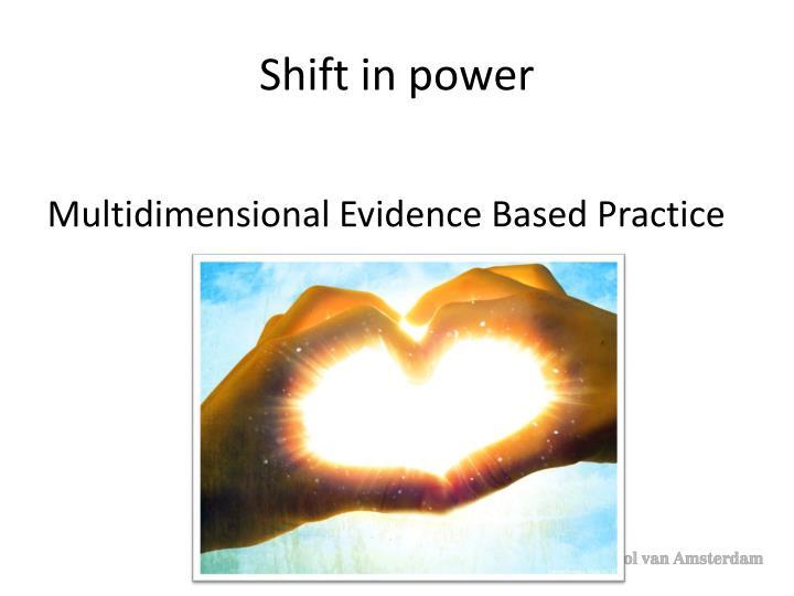 Shift in power