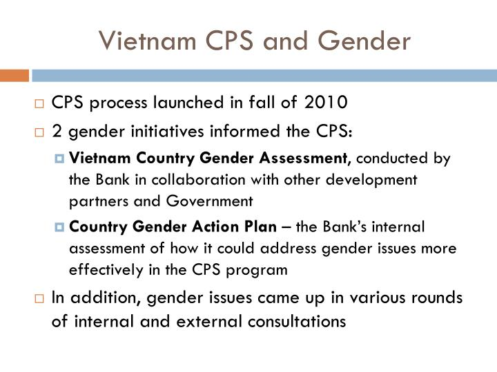 Vietnam cps and gender