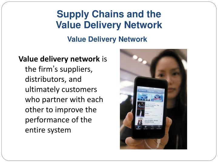 Supply chains and the value delivery network1