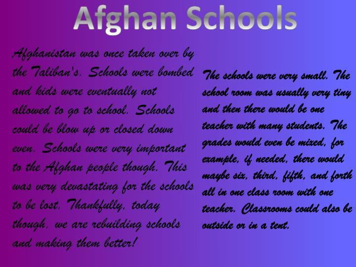 Afghan Schools