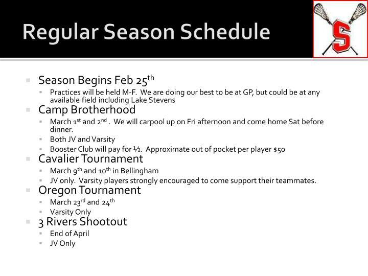 Regular Season Schedule