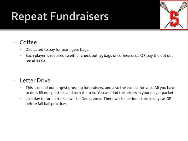 Repeat Fundraisers