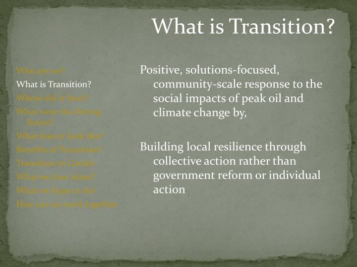 What is Transition?
