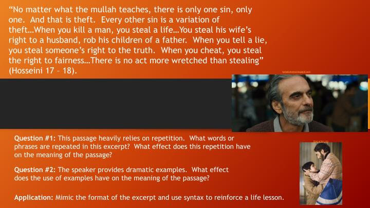 """""""No matter what the mullah teaches, there is only one sin, only one.  And that is theft.  Every ot..."""
