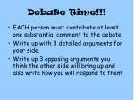 debate time1